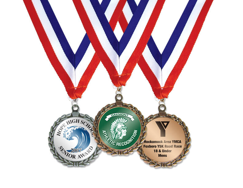 Stock Round Medals